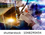 adjust the welding operation... | Shutterstock . vector #1048290454