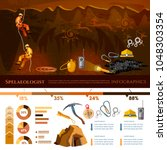 professional cavers... | Shutterstock .eps vector #1048303354