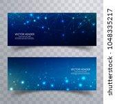 beautiful blue technology... | Shutterstock .eps vector #1048335217