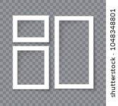 set of vector blank photo... | Shutterstock .eps vector #1048348801