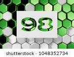 white number 98 on the green... | Shutterstock . vector #1048352734