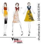 stylish fashion models. fashion ... | Shutterstock .eps vector #1048365394