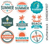 summer retro vector logo for... | Shutterstock .eps vector #1048369507