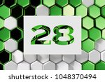 white number 28 on the green... | Shutterstock . vector #1048370494
