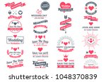 wedding retro vintage vector... | Shutterstock .eps vector #1048370839
