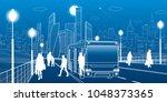 city transportation... | Shutterstock .eps vector #1048373365