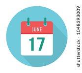 june 17 calendar icon flat.... | Shutterstock .eps vector #1048393009