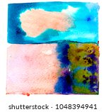 watercolor blotch. splash | Shutterstock . vector #1048394941