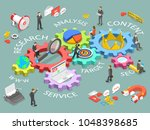digital marketing flat... | Shutterstock .eps vector #1048398685