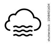 air cloud vector line icon