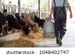 farmer asian are holding a... | Shutterstock . vector #1048402747