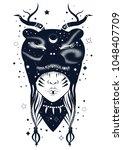 vector illustration of shaman... | Shutterstock .eps vector #1048407709