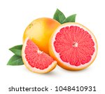 Grapefruit isolated on white...