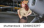 Pin Up  Redhead Woman Dressed...