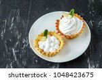 sweet cake with cream  mint and ... | Shutterstock . vector #1048423675