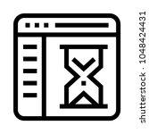 web loading vector line icon