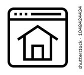 web home page vector line icon