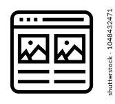 web picture vector line icon