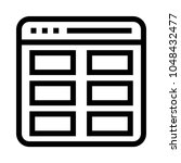 web layout vector line icon