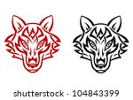 wild wolf for tribal tattoo.... | Shutterstock .eps vector #104843399