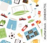 soccer vector footballer or... | Shutterstock .eps vector #1048434751