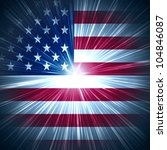 abstract background usa flag... | Shutterstock . vector #104846087
