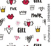 girl power vector illustration ... | Shutterstock .eps vector #1048468084