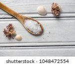 white bath salt | Shutterstock . vector #1048472554
