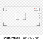 mobile phone transparent camera.... | Shutterstock .eps vector #1048472704