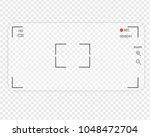 mobile phone transparent camera.... | Shutterstock .eps vector #1048472704