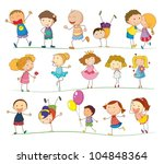 illustration of a group of... | Shutterstock .eps vector #104848364