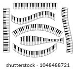 piano keyboard set  isolated on ... | Shutterstock .eps vector #1048488721