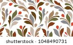 floral seamless texture for... | Shutterstock .eps vector #1048490731