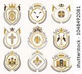 vector classy heraldic coat of... | Shutterstock .eps vector #1048492081