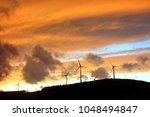 beautiful orange sunset | Shutterstock . vector #1048494847