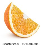 standing ripe slice of orange... | Shutterstock . vector #1048503601