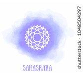 chakra sahasrara vector yoga... | Shutterstock .eps vector #1048504297