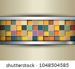 abstract background 3d with... | Shutterstock .eps vector #1048504585