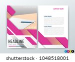 a4 size  abstract modern...   Shutterstock .eps vector #1048518001
