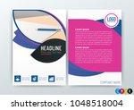 a4 size  abstract modern flyers ...   Shutterstock .eps vector #1048518004