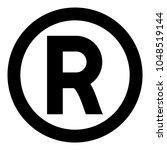 symbol copyright icon black... | Shutterstock .eps vector #1048519144