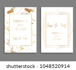 set of luxury cover templates.... | Shutterstock .eps vector #1048520914
