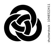 three interlocked circles logo | Shutterstock .eps vector #1048522411