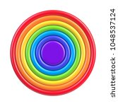 vector colorful rainbow circle... | Shutterstock .eps vector #1048537124