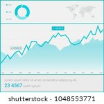 infographic dashboard template... | Shutterstock .eps vector #1048553771