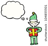 cartoon christmas elf | Shutterstock . vector #104855501