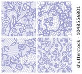 gentle lace seamless pattern... | Shutterstock .eps vector #1048556801