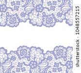 seamless lace border. vector... | Shutterstock .eps vector #1048557215