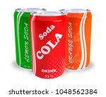 cans soda cola orange lemon 3d... | Shutterstock . vector #1048562384
