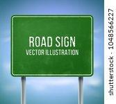 classic green traffic... | Shutterstock .eps vector #1048566227